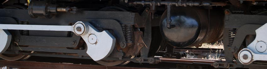 Wheels under Locomotive 302.
